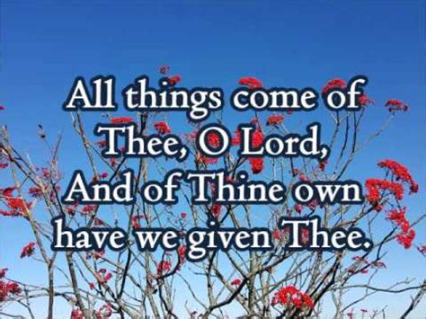 """""""All Things Come of Thee, O Lord"""" (Chimes) - YouTube"""