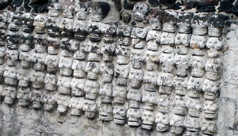 Skulls of Sacrificed Aztec Victims found in Mexico City