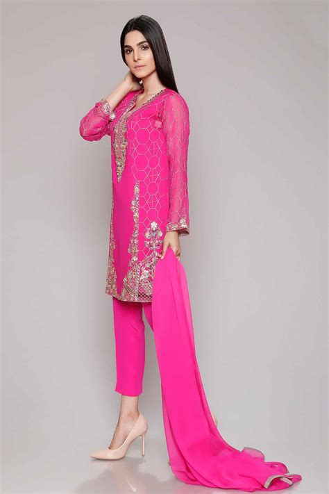 Latest Party Wear Dresses Embroidered Suits 2018-19