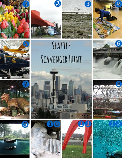 Seattle Scavenger Hunt (with printable) for Kids