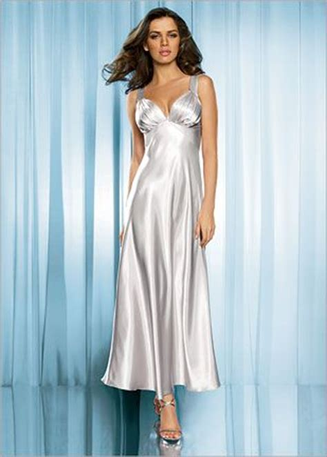 Frederick's of Hollywood Pleated Cup Satin Nightgown, 2010