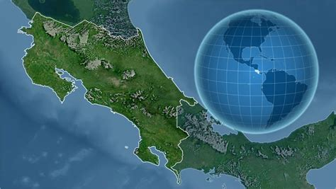 Costa Rica Shape Animated On Stock Footage Video (100%