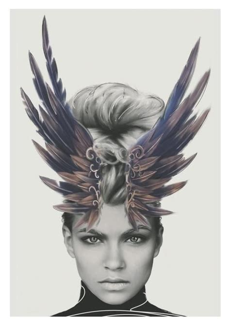 Linn Wold - Crown of Feather Print (various sizes