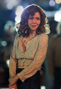 Maggie Gyllenhaal sports battered face on the NYC set of