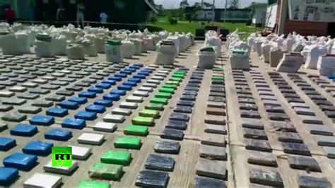 Largest bust in decade: Colombia seizes 8 tons of cocaine