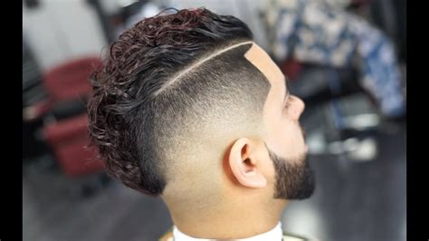 The Comb Over/ Mohawk Mens Haircut - YouTube