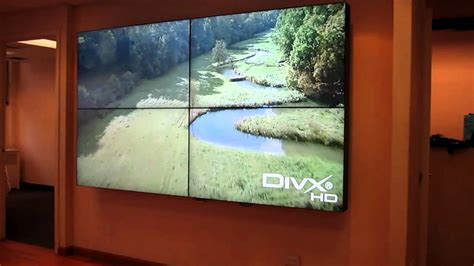 """Primeview 55"""" LCD Video Wall - Super Thin Bezel - YouTube"""