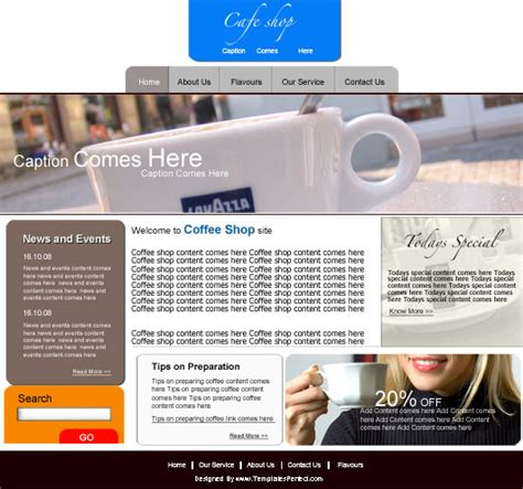 free hotel PSD web template   Templates Perfect