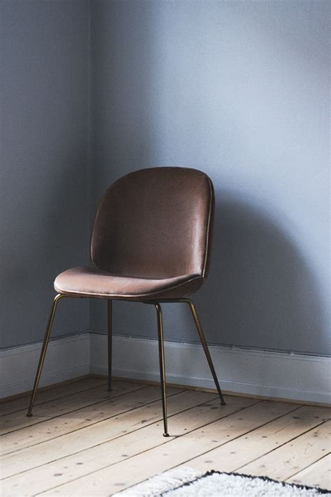 gorgeous dusty rose velvet upholster dining chair with