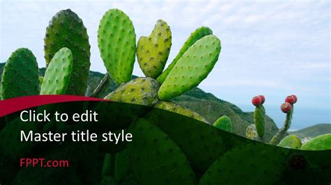 Free Cacti PowerPoint Template - Free PowerPoint Templates