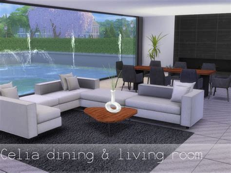 Sims 4 CC's - The Best: Dinig- & Livingroom by Spacesims
